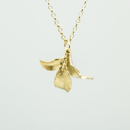 Waimea Leaf Pendant- 14ct gold plated