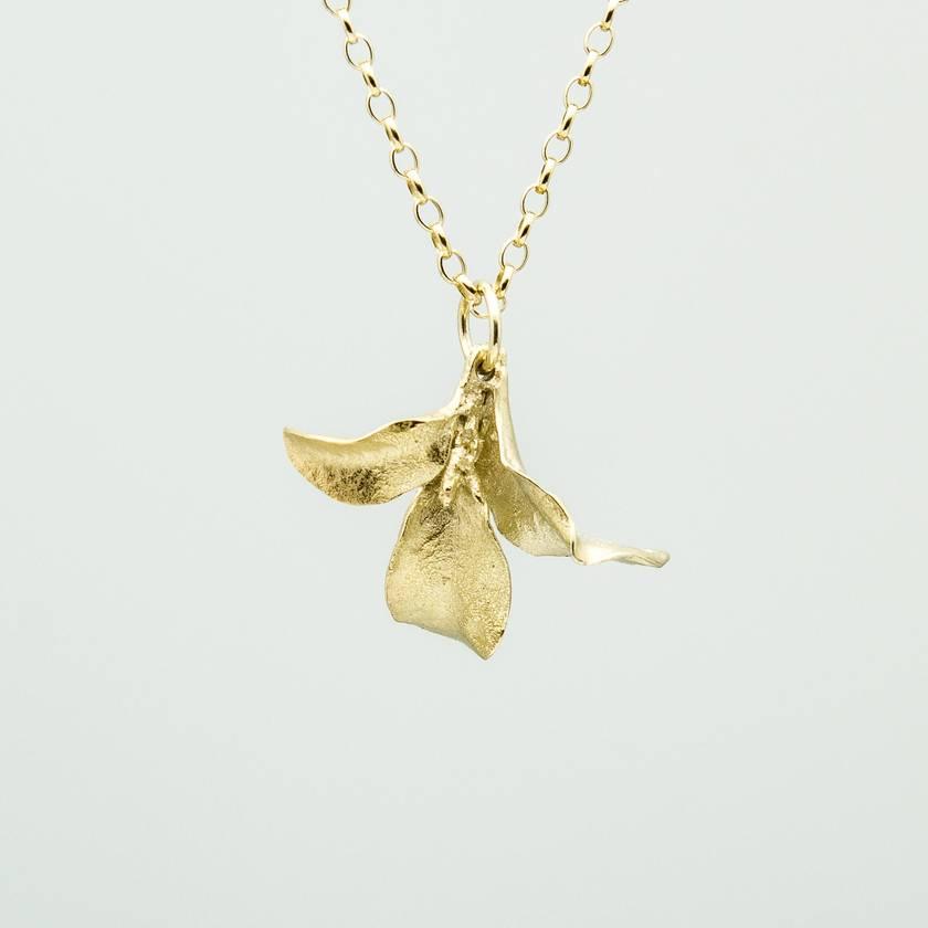 Waimea leaf pendant 14ct gold plated felt waimea leaf pendant 14ct gold plated aloadofball Image collections