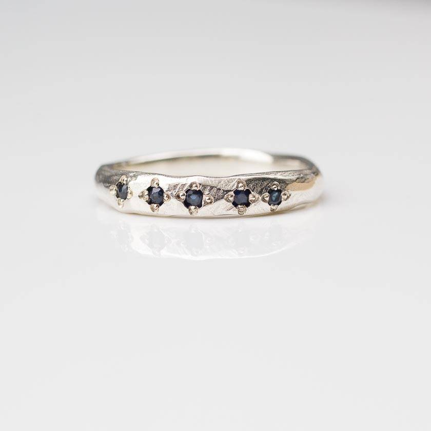 Astrum Ring - sterling silver with australian sapphires