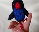 Pukeko finger puppet