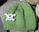 Skull Beanie - Apple Green