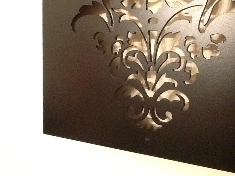 Laser Cut Wall Designs : Fleur de lis laser cut wall art large felt