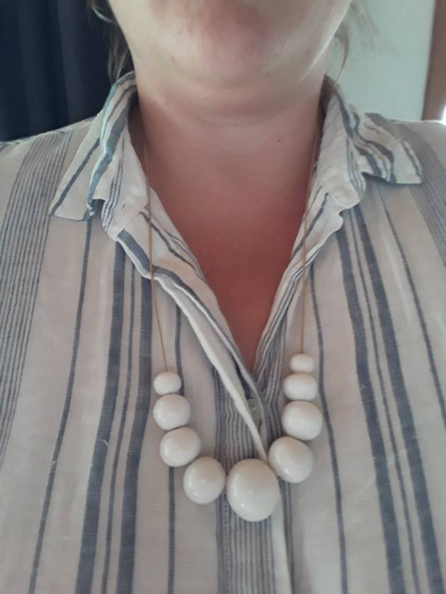 Handmade Ceramic Bead Necklace