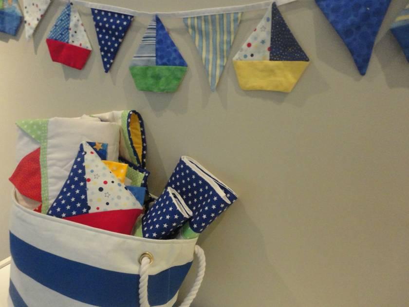 Fabric Laundry Hamper Nz: Nautical Theme Fabric Basket