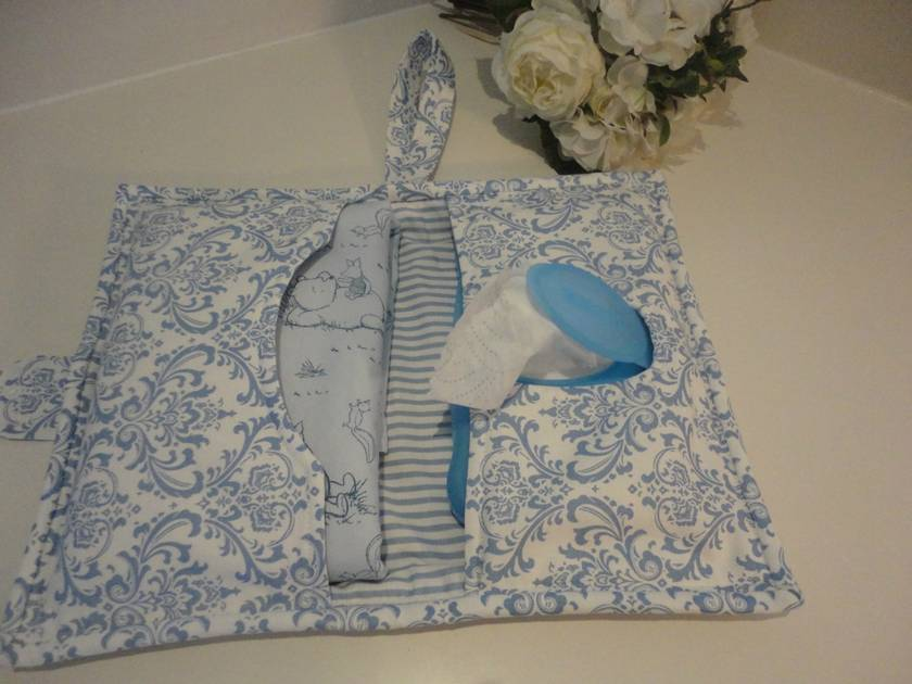 Baby Change Wallet with Blanket & Wipes