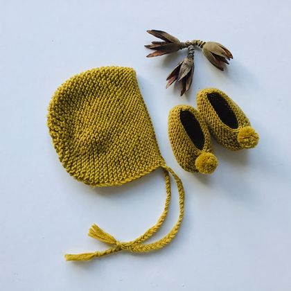 Bonnet and Booties Set