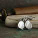 Mother of Pearl Teardrop Earrings in Sterling Silver