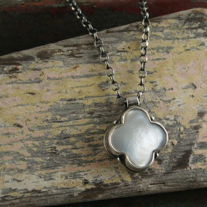 Mother of Pearl Clover Pendant