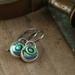 Paua Drop Earrings in Sterling Silver