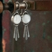 Silver and Mother of Pearl Drop Earrings