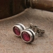 Garnet Gemstone Studs in Sterling Silver