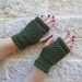 Sergeant Pepper fingerless mittens - khaki green wool mitts