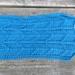Unisex tribal arrow aqua blue scarf - knitted from pure NZ wool