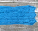 Unisex tribal arrow aqua blue scarf - knitted from pure NZ wool