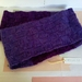 Bushido purple infinity scarf - long cowl knitted from pure NZ wool