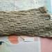 Bushido light grey latte unisex scarf - knitted from pure NZ wool