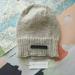 Baker Boy unisex beanie - hand knitted light grey slouch beanie, pure NZ merino