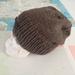 Baker Boy unisex beanie - hand knitted chocolate brown slouch beanie, pure NZ merino
