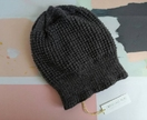 Helsinki luxury dark grey beanie - pure wool slouch hat