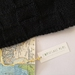 Bushido black unisex infinity scarf - knitted from pure NZ wool