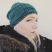 Hudson dark green slouch beanie - luxury merino wool hat