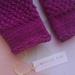 Log Cabin dark fushia fingerless mittens – pure NZ wool