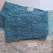 Bushido bright blue unisex infinity scarf - knitted from pure NZ wool