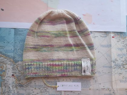 e58c477a6c Brooklyn rainbow striped beanie - luxury winter hat with hand dyed merino  stripes
