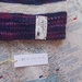 Brooklyn purple striped beanie - luxury winter hat with hand dyed merino stripes