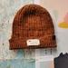Hudson luxury beanie - hand dyed dark caramel brown wool hat