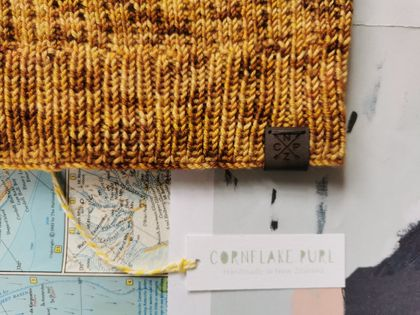 Hudson luxury beanie - hand dyed dark mustard wool hat