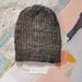 Hudson luxury winter beanie - hand dyed grey wool hat