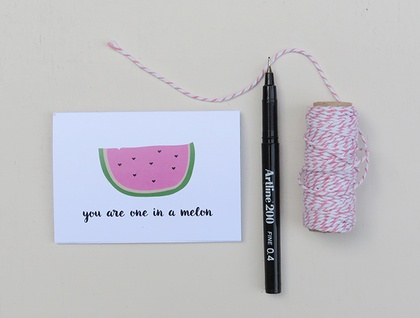 You Are One In A Melon Greeting Card & Envelope