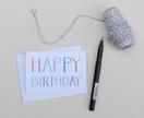 Greeting Card & Envelope - Pastel Happy Birthday
