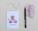 Birthday Girl Bear Greeting Card & Envelope