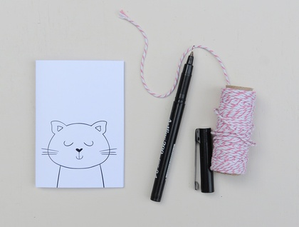 Greeting Card & Envelope - Kitty Cat