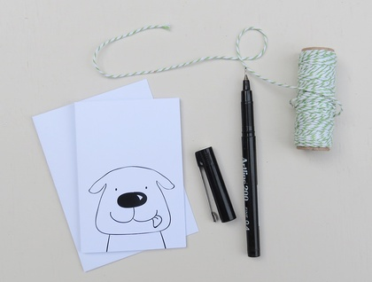 Greeting Card & Envelope - Pups
