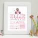 Nursery Wall Art Baby Print - Racing Bear