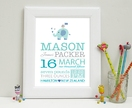 Nursery Wall Art Print - Baby Elephant