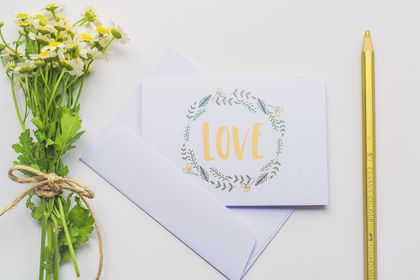 Mothers Day Greeting Card & Envelope - Floral Love