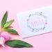 Mothers Day Greeting Card & Envelope - Best Ever Mum