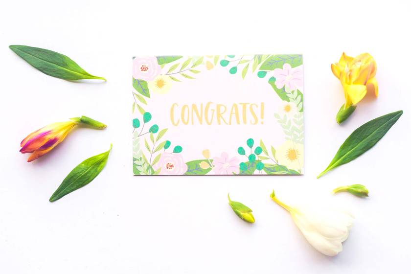 Greeting Card & Envelope - Summer Set of 5