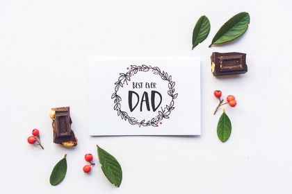 Fathers Day Greeting Card & Envelope - Best Ever Dad