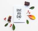 Fathers Day Greeting Card & Envelope - Love You Dad