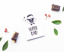 Fathers Day Greeting Card & Envelope - Super Dad
