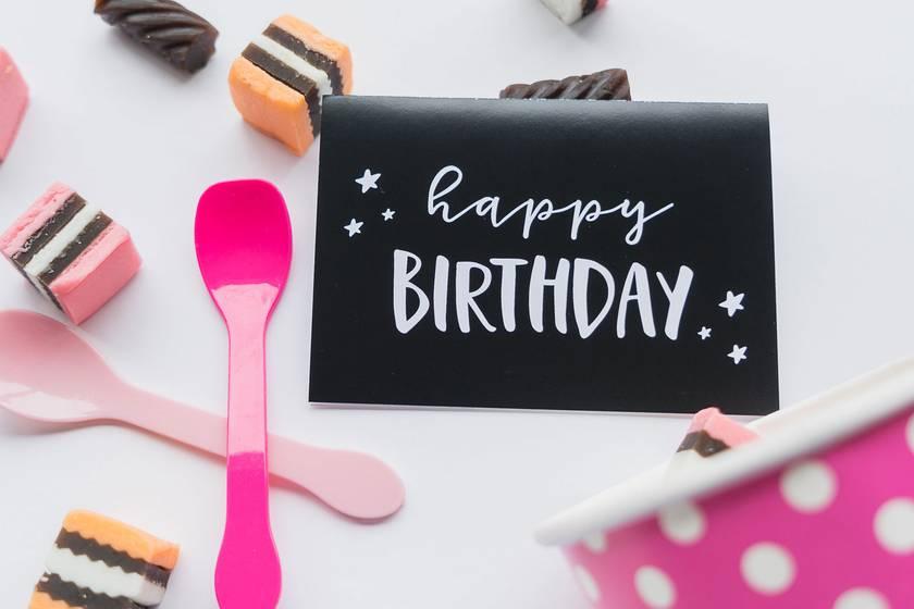Greeting Card & Envelope - Happy Birthday