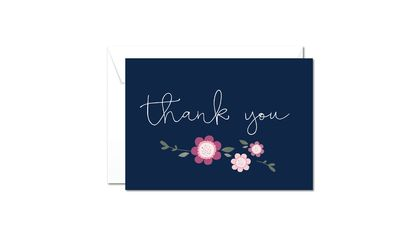 Greeting Card & Envelope - Floral Thank You