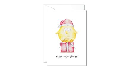 Christmas Greeting Cards & Envelope - Coco Chicken