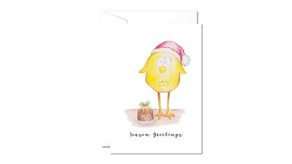 Christmas Greeting Cards & Envelope - Mrs Chicken