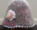 Soft Grey Alpaca Hat